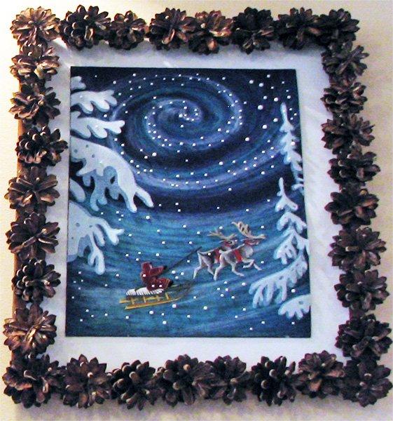 Картины своими руками к зиме