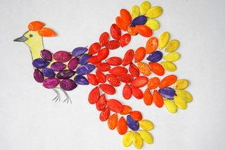 Детские поделки из семечек тыквы